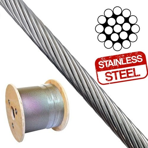 1x19 stainless wire rope reel