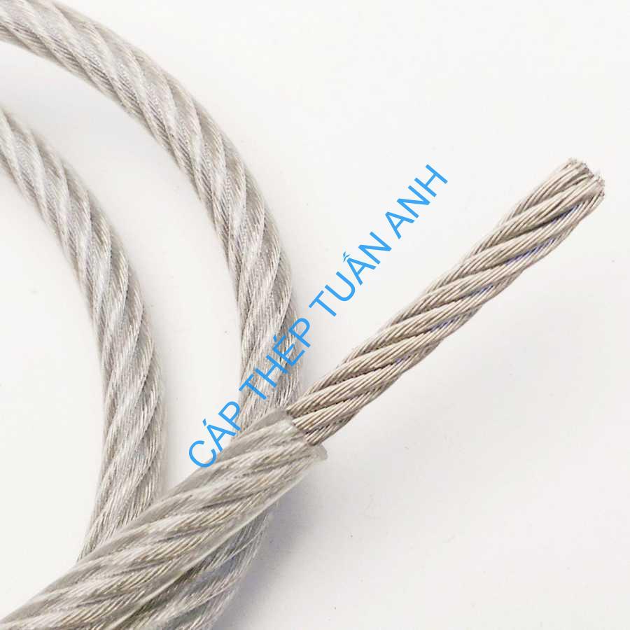 dây cáp thép bọc nhựa pvc