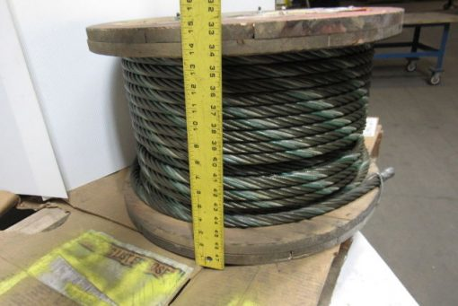 100921 3 4 wire rope steel cable 6x36 const aprox 350 bulk sling choker winch line 2