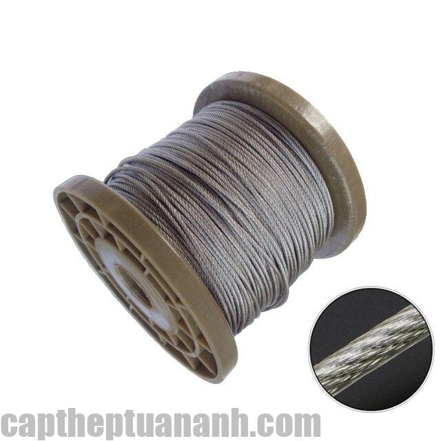 5Meters 3 4 5 6mm Diameter Steel PVC Coated Flexible Wire Rope Cable Transparent Stainless