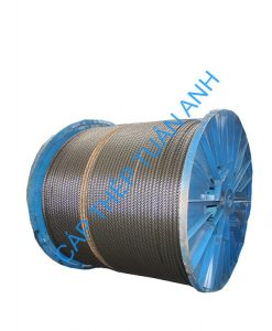 AISI304 8x19 stainless steel wire rope 4mm 1