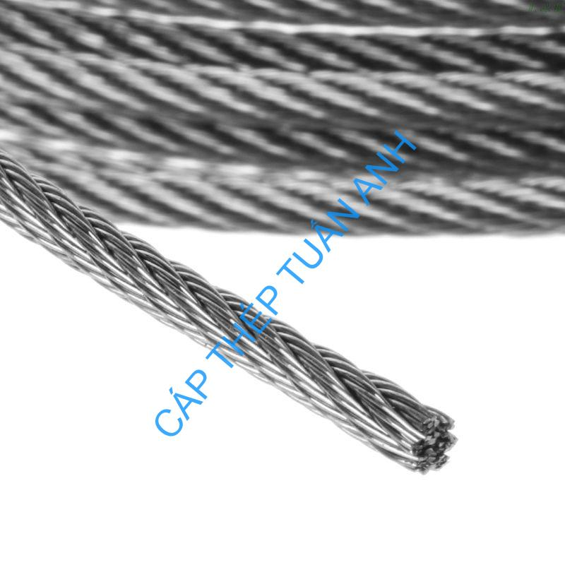 New 10m 304 Stainless Steel Wire Rope Soft Fishing Lifting Cable 7X7 Clothesline
