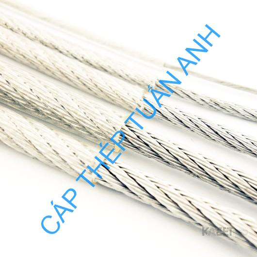 steel wire rope pvc coated galvanized 6mm 1x19 1