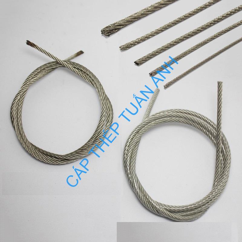 dây cáp bọc nhựa 4mm